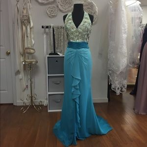 Beautiful Beaded Halter Dress